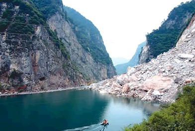 Yangtze River Mountain Slides