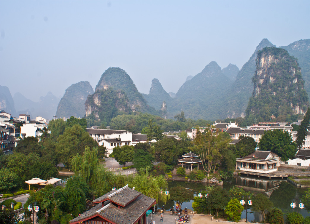 View from our Hotel at Yangshuo