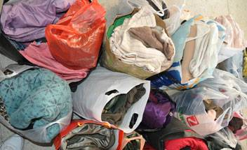 Clothes packages to be sent to Sichuan