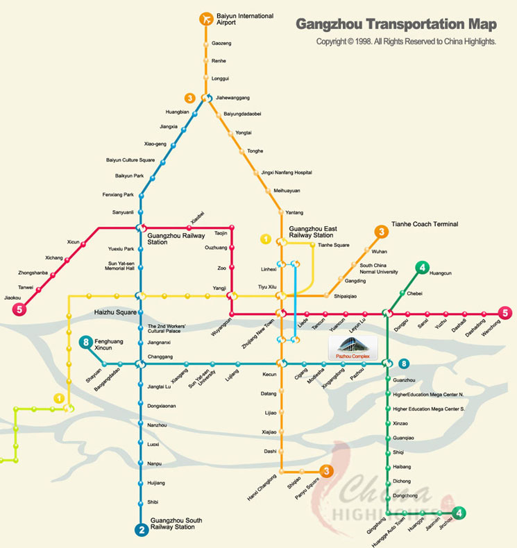 Guangzhou Transportation Map