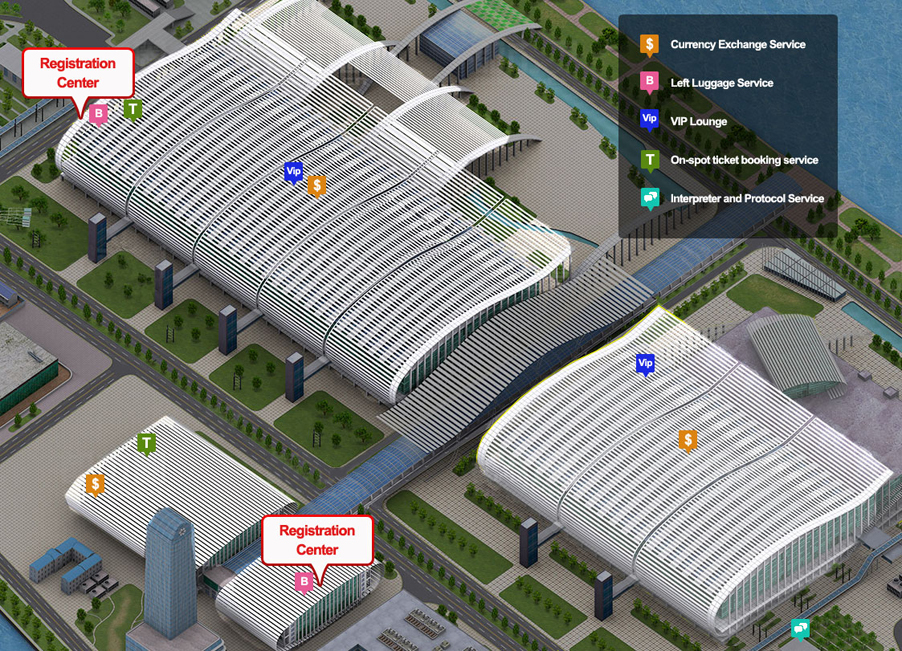 Pazhou Complex Facilities Map