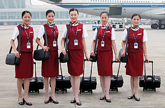 Beautiful waitress at Air China