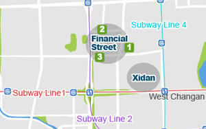 Beijing Financial Street Map