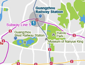 Guangzhou Railway Station map
