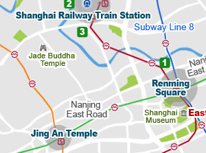 Shanghai Eailway Station Map