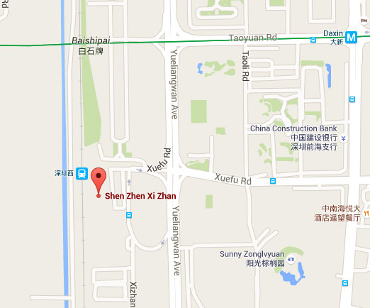Shenzhen West street map