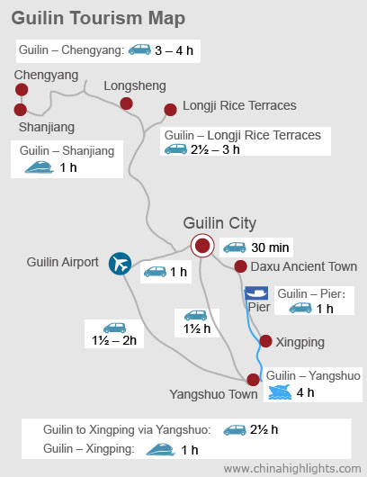Guilin Toursim Map