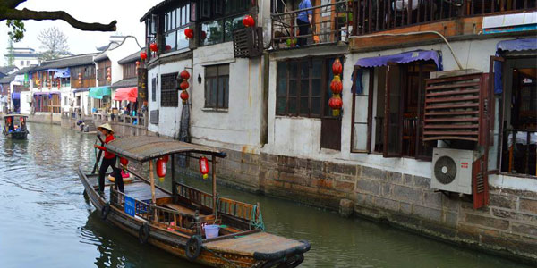 Afternoon Tour of Zhujiajiao Water Town and Evening Huangpu River Cruise with Buffet Dinner (Group)