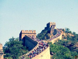 the summer scenery of the Great Wall at Badaling Section