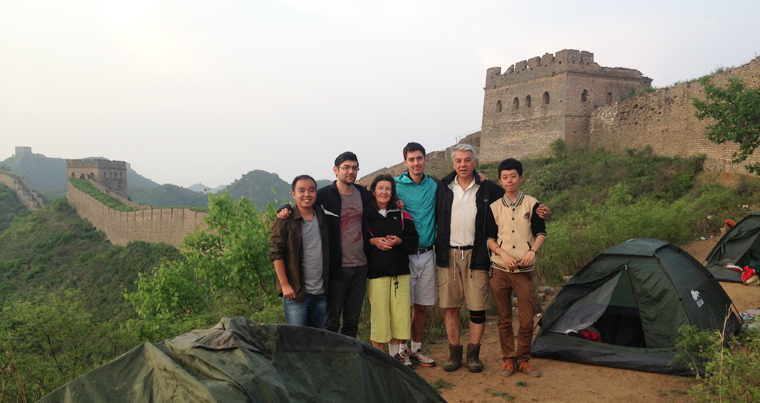 camping on the Great Wall