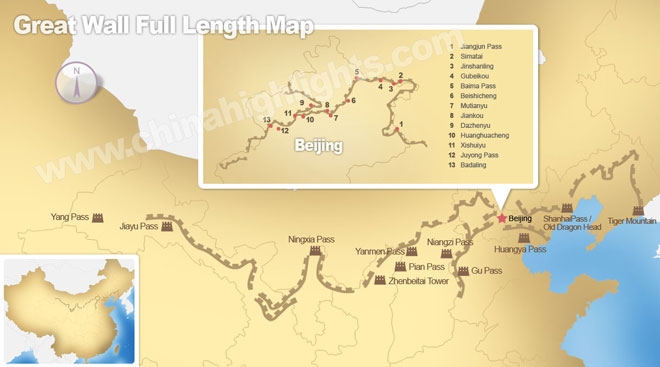 The Great Wall Sections in China