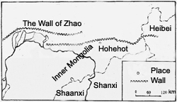 Map of Zhao State Wall