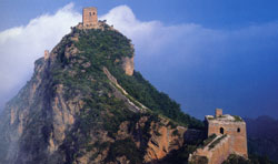 Seeing Beijing Tower on the Simatai Great Wall