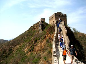 the scenery of the Great Wall at Simatai section
