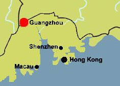 Guangzhou's location map