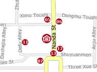 Map of Xian Skytel Hotel