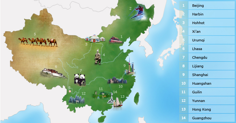 China City Guide, City Guide of China - China Highlights 10 Most Beautiful Places In The World For Honeymoon