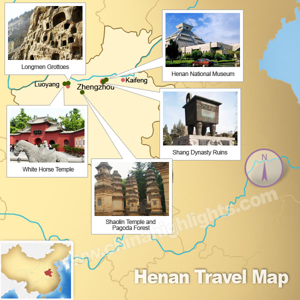 Henan Attractions Map
