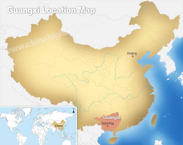Guangxi Location Map