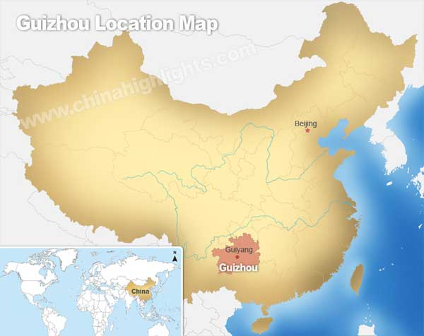Guizhou Location Map