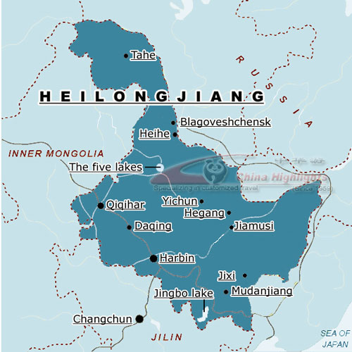 Heilongjiang Location Map