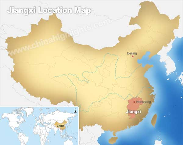 Jiangxi Location Map