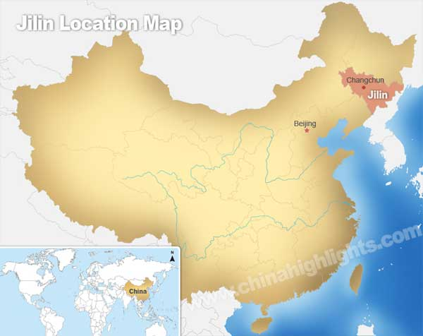 Jilin Location Map