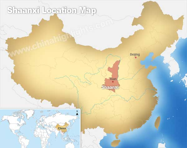 Shaanxi Location Map