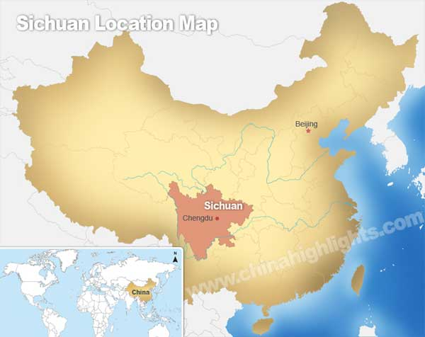 Sichuan Location Map