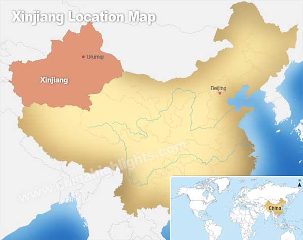 Xinjiang Location Map