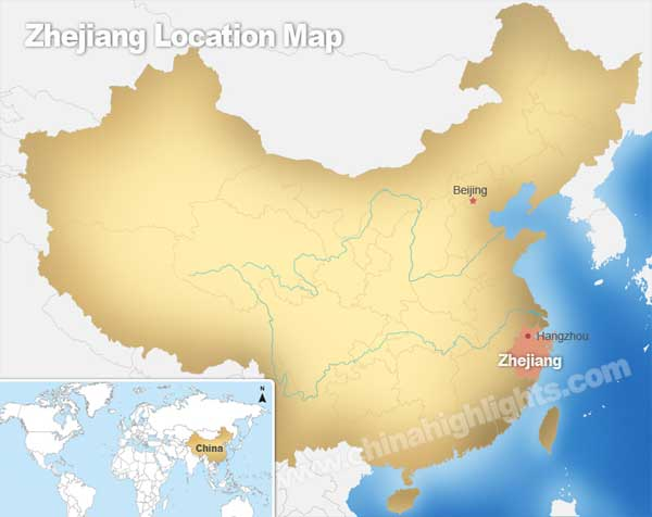 Zhejiang Location Map