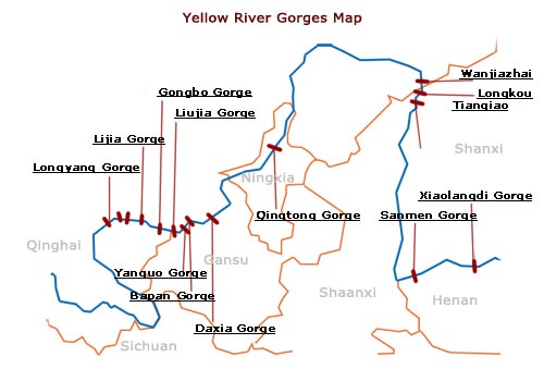 Yellow River Gorge Map