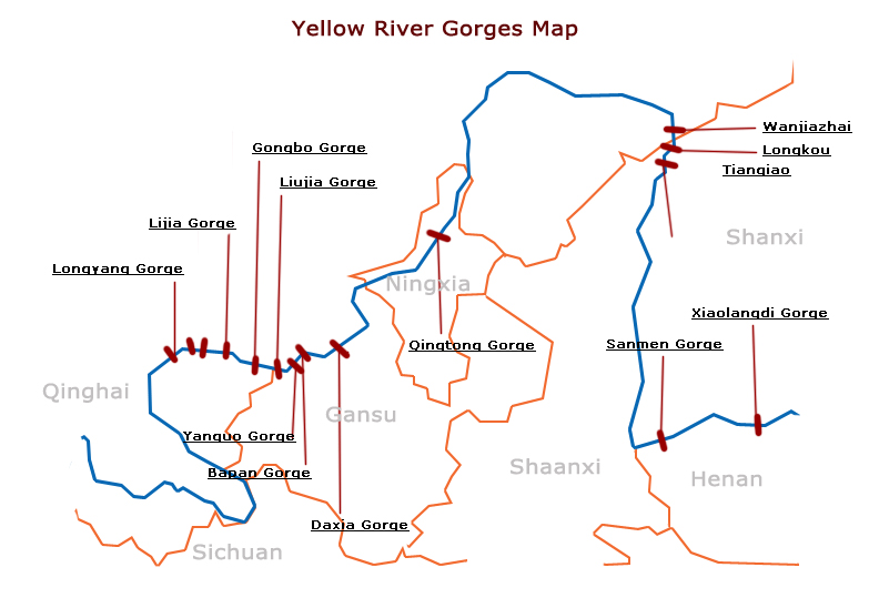 China Map Yellow River
