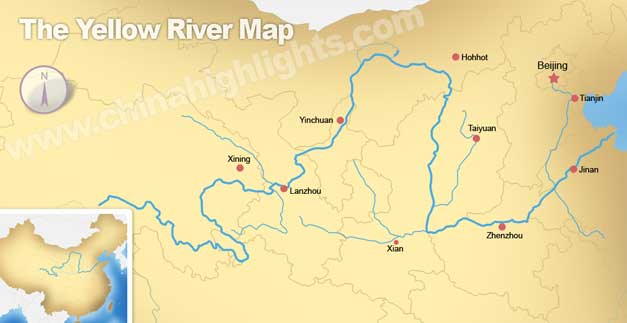 Yellow River Of China Culture And Civilization Along The