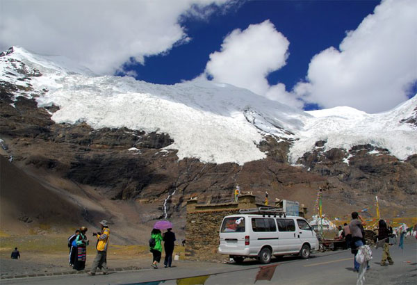 At the bottom of the Khorala Glacier