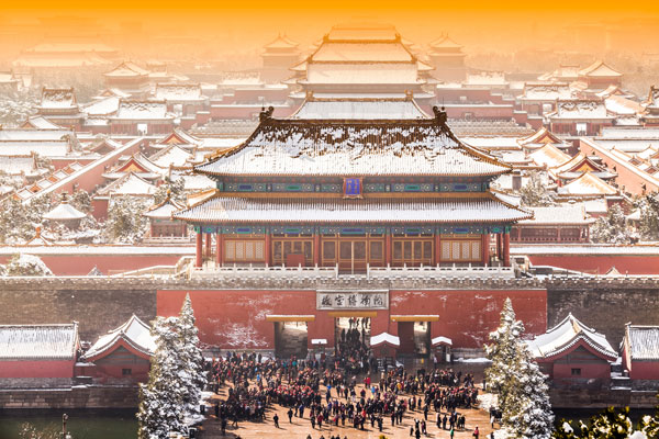 the Forbidden City in winter