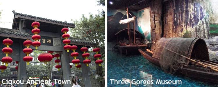 The Three Gorges Museum and Ciqikou Ancient Town