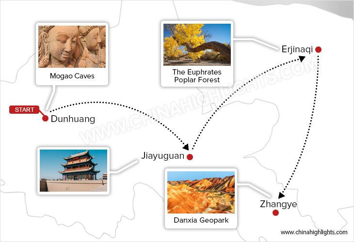 When Silk Road Culture Meets Fabulous Fall Colors tour map