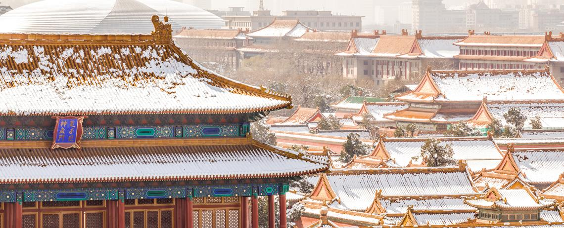 The Forbidden City Covered in Snow