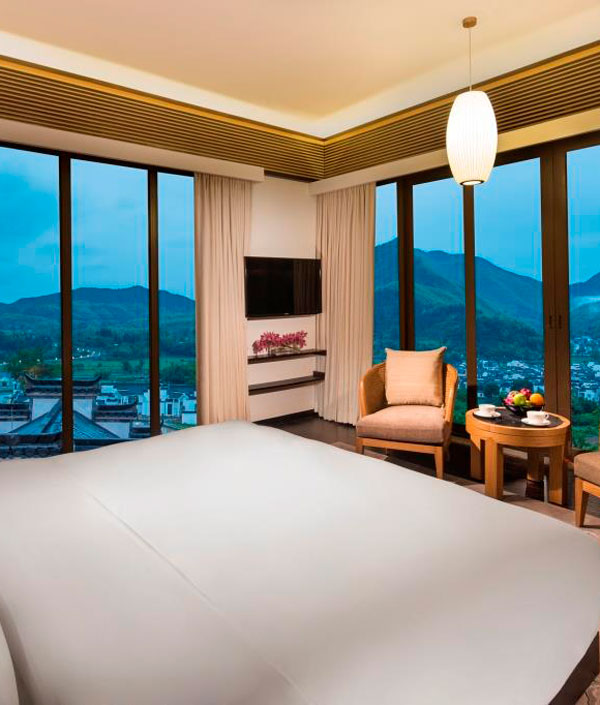 the bed room of Banyan Tree