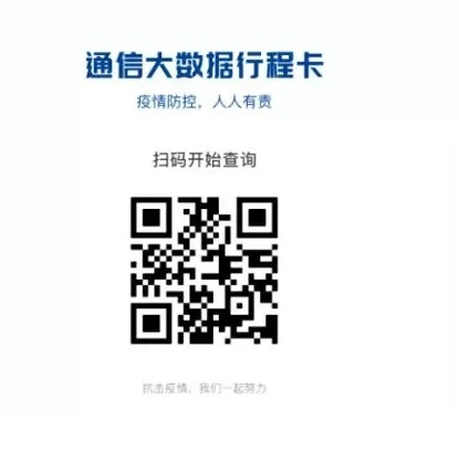 Scan the QR code to access your record of travel itinerary