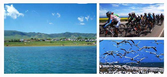 Cycling around QInghai Lake