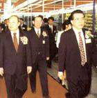 Shi Guangsheng, Minister of Foreign Trade and Economic Cooperation, and Lu Ruihua, the Governor of Guangdong Province, inspected the Fair.