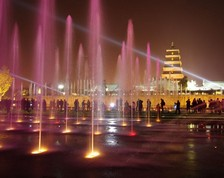 Music Fountain at Big Wild Goose Pagoda Xian