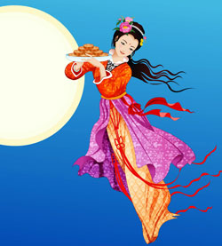 Chang'e and the moon cakes - Mid autumn festival