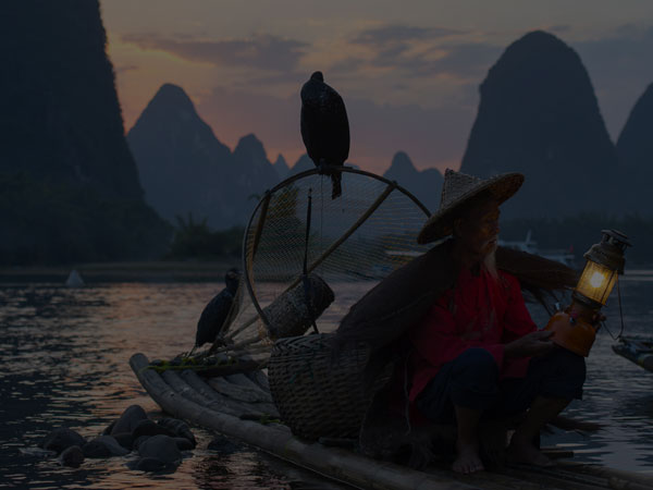a fisher man on Li River