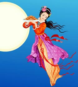 Chang'e and the moon cakes -Mid autumn festival