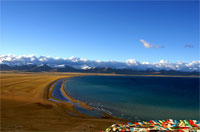 Namtso Lake at dusk