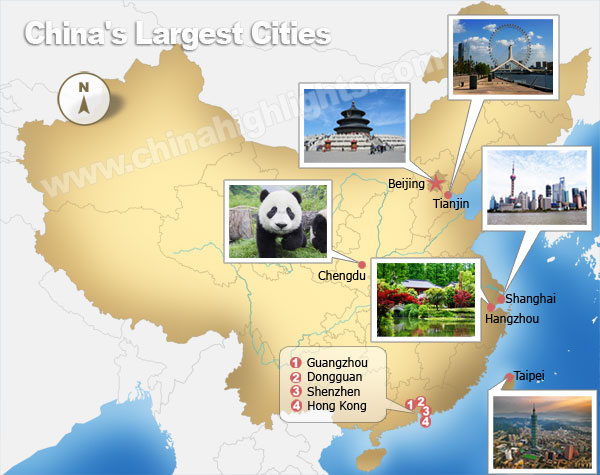 Largest citis in China
