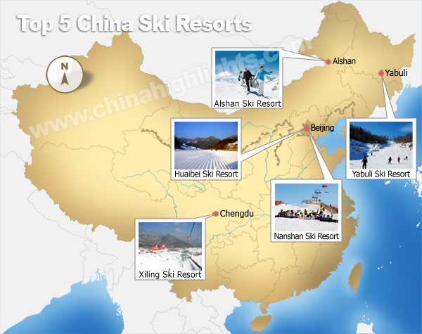 Best places to ski in China